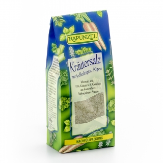 Rapunzel Bio Kräutersalz mit jodhaltigen Algen Nachfüllbeutel