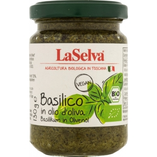 La Selva Bio Basilikum in Olivenöl