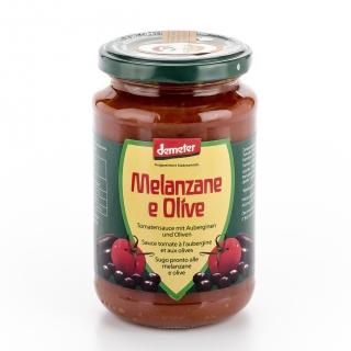 Vanadis Bio Demeter Tomatensauce mit Auberginen und Oliven
