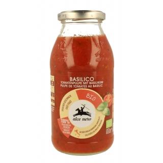 Alce Nero Bio Tomaten Pulpe mit Basilikum
