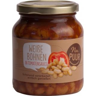 Nur Puur Bio Weisse Bohnen in Tomatensauce
