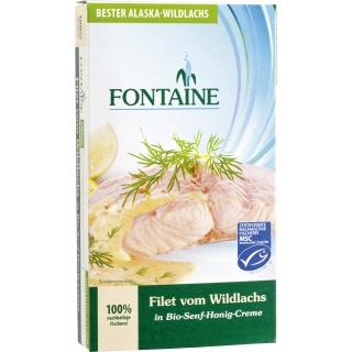 Fontaine Wildlachsfilet in Senfcrème