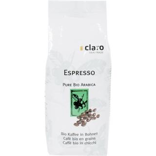 Claro Fair Trade Bio Kaffee Espresso Bohnen