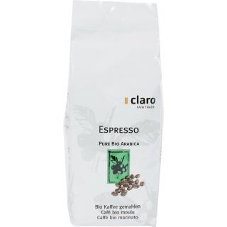 Claro Fair Trade Bio Kaffee Espresso gemahlen