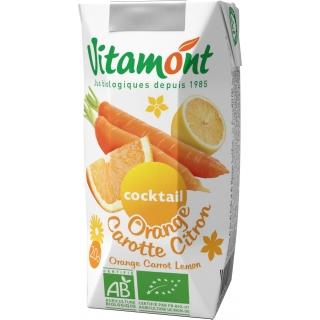 Vitamont Bio Reiner Orangen-Karotten-Zitronensaft