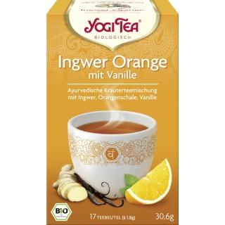 Yogi Tea Bio Kräutertee Ingwer Orange Vanille