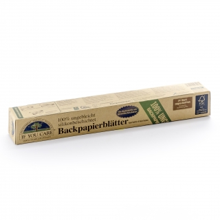 if you care Backpapier Blätter