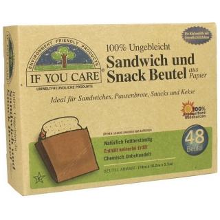 if you care Sandwich und Snack Beutel