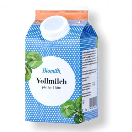 Milch Bio Demeter Vollmilch 3.8% Fett 0.5l - Besonders schonend zubereitet und schmeckt mit min. 3.8% Fettanteil besonders lecke