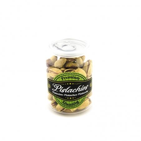 Pistazien gesalzen geröstet mit Safran 100g - Premium Pistazien, die Königin der Nüsse in einem neuen goldgelben Gewand.