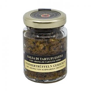 geriebene Trüffeln - schwarz - Sommer Trüffeln gerieben, in Olivenöl mit Périgord-Aroma